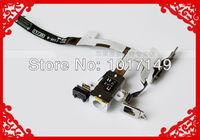 Original Replacement Parts Audio Headphone Jack Flex Cable for iPhone 4 4S White and Black MOQ:10pcs
