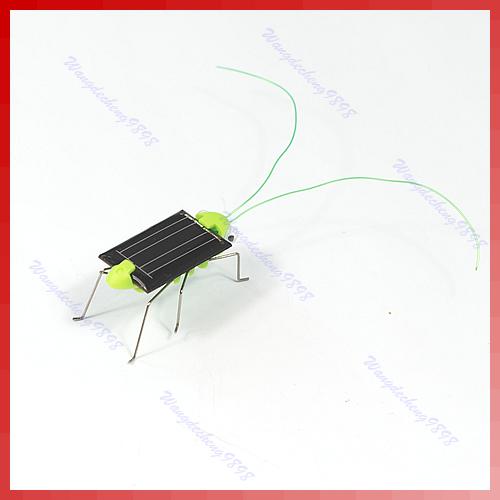1Pc Solar Power Robot Insect Bug Locust Grasshopper Toy Fun Free Shipping(China (Mainlan