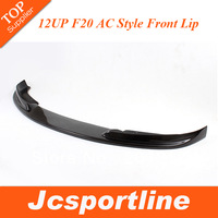 New Arrival Real Carbon Fiber AC Style F20 Front Bumper Lip Car Spoiler For BMW (FITS :2012up f20 standard bumper)
