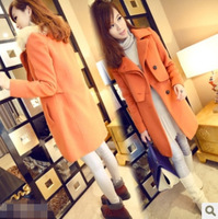 2013 Korean version of the new winter fashion woolen coat woolen coat and long coat Y5225