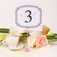 Free Shipping Interlocking Hearts Square Table Number Card/Wedding Decoration/Garden Supplies(Set of 10)