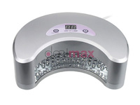 Silver 18W LED Nail Polish Dryer/Lamp/Light for Curing LED Gels with Digital Countdown Timer 30s-90s Nail SPA Equipment US Plug