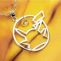 Pikachu silver 925 pendant/ japanese cartoon/ silver 925 material/Pikachu/