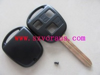 High quality To 3  button shell with TOY43 blade without logo ,  car remote key shell & auto key blanks