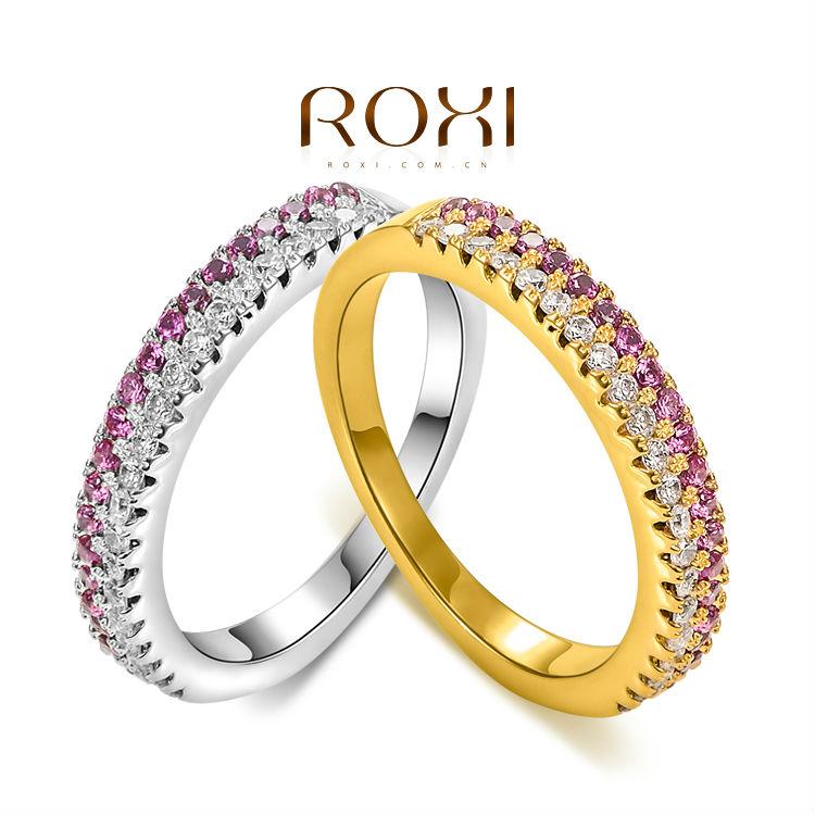 ROXI Christmas Gift Classic Genuine Austrian Crystals Fashion Gear Ring 100% Man-made Big OFF Christmas(China (Mainland))