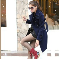 2013 fall and winter clothes new Korean Women woolen jacket and long sections woolen coat Y5222