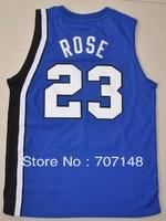 Cheap-Mix Order Derrick Rose #23 Memphis Tigers Blue White Basketball Jersey