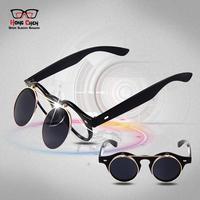 8008 free shipping christmas glasses fashionable metal  brand designer sunglasses