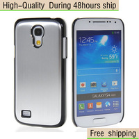 New Brushed Aluminum Hard Case Back Cover For Samsung Galaxy S4 Mini I9190 Free Shipping UPS EMS DHL CPAM HKPAM GT4-2