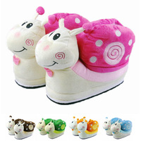 Winter cotton-padded female slippers cartoon snail high thickening wool slippers package with platform cotton-padded shoes