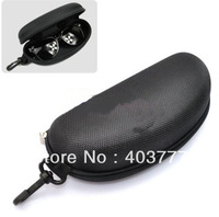 EVA Eye Glasses Sunglasses Hard Case Bag Box Black Zip Hook