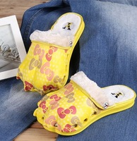 Free Shipping Winter at home cute slippers female male winter slippers home lovers slippers thermal cotton-padded