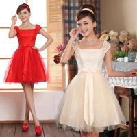 2014 new arrival lace bridesmaid dress formal dress short design