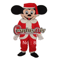 New Arrival Christmas Mickey Mouse In Red Outfit Cartoon Mascot Costume For Adult In Christmas