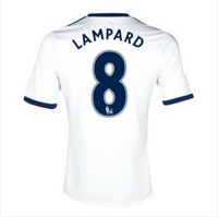 A+++ NEW hot top thai quality Chelsea soccer jersey 13 14 Chelsea away LAMPARD TORRES ETO'O  OSCAR football jersey