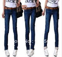 Free Shipping 2013 New arrival women's jeans Brand skinny Jeans female Warm Pants plus size pants Denim jeans women