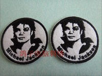 8.5cm Michael Jackson Iron on patches  sedulous cartoon embroidery armatured armbandand fabric measurement  wholesale100pcs/lot