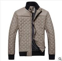 Fashion Men's winter warm overcoat cotton-padded jacket outerwear warm puffer down coat free shipping