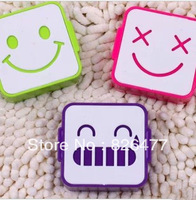 Top Selling!! 2013 Smiley cartoon contact lenses box nursing box lenses delicate cute case for glasses spectacle case Wholesale