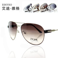 Fashion metal frame sunglasses male women's large sunglasses glasses nose pads sunglasses