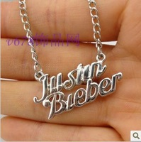 JUSTIN BIEBER Justin B Necklace,Europe and the United States letter necklace,High quality accessories wholesale free shipping