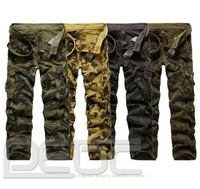free shipping#Cool Mens Casual Military Army Cargo Camo Combat Work Pants Trousers Chinos NEW
