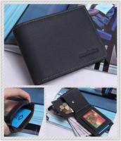 Free shipping 100% genuine leather Wallet High quanlity brand designer wallet card hodlder purse men's coin wallet pocket