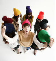 2013 Hot selling 14 colors Hat winter for women in women's Knitted cap Apparel Accessories Knitting Warm Hat Couples hat
