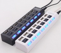 High Quality 2.0 High Speed 7 Port USB HUB ON/OFF Sharing Switch Free Shipping