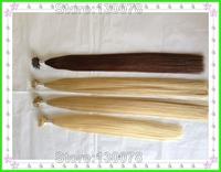 Newest  blonde black brown ,300s/lot 0.8g/s ,silk straight , virgin indian ,loop nano ring human hair extensions + 300 rings