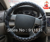 Car Wheel Cover Black color Steering Wheel Covers Car Accessories Wine Series South Korea Car Steering Wheel horn Holder Cover