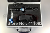 Wholesale - blue laser pointers 80000mw burn match pop balloon cigarettes+battery+changer+gift box+free shipping