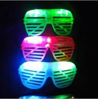 10pcs /lot 2014 shutter fashion flash LED glasses light masquerade mask decorative for christmas party