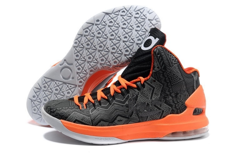 Women KD V Basketball Shoes Black History Month B-H-M Black Orange Basketball Shoes Free Shippinh(China (Mainland))