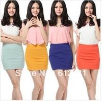 Promotion ! Free Shipping Fashion New Style Pure Slim Elegant Cotton Women Skirt Lady Skirt