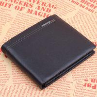 Fashion Fuerdanni genuine leather wallet 2013 mens wallet uncovered cowhide short design 3702-1 black 01 purse