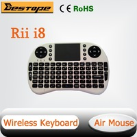 Free Shipping 2.4G Rii Mini i8 Wireless Keyboard with Touchpad for PC Pad Google Andriod TV Box IPTV