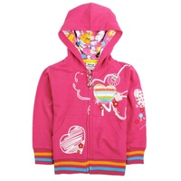 FREE SHIPPING F3365#  Nova kids wear 18m-6yrs spring autumn zipper printing long sleeve hoodies for girls