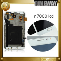 For Samsung Galaxy Note N7000 i9220 LCD Screen and Touch screen Digitizer Panel Assembly with frame Free shipping