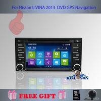 Koason 7'' UI5 Interface For Nissan Livina 2013 DVD GPS,Free Shipping ,Free Rear-View Camera And 4G map Card