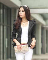 fashion women Short coat female tuxedo a small suit hubble-bubble sleeve small jackets