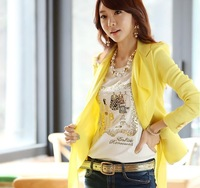 fashion women OL temperament cultivate one's morality chiffon small suit hot sell girl's jackets