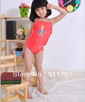 Child small skirt style swimwear one piece swimsuit female child swimming equipment,A02