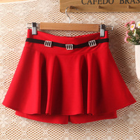 Autumn and winter female short skirt shorts winter thick dress autumn small short skirt winter dress bust skirt cotton skirt