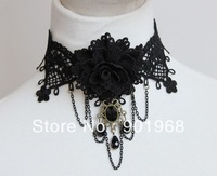 Wholesale EU ancients style hand made girls'  women's lace necklace-10 piece/lot