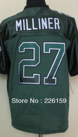 Free Shipping Wholesale 2013 New Football Jerseys New York #27 Dee Milliner Drift Fashion Green Elite Jerseys 40-56