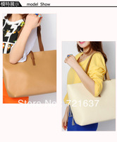 Fashion lady Handbag Women PU leather Shoulder Bag Purse Daily causal Shopper TOTE free shipping BA004-3