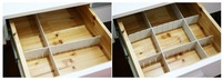 DIY Combination Clapboard Drawers Storage Clapboard Drawer Organizer (3Pcs 50x8.2CM)