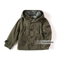 Children's clothing 2013 autumn 100% cotton male child outerwear trench boy child hooded jacket a