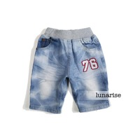 Children's clothing 2013 summer male child 100% cotton denim shorts child shorts capris jeans